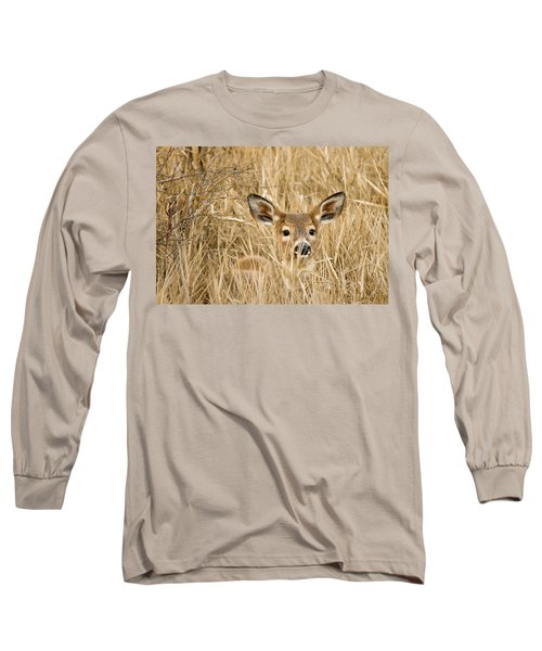 Whitetail In Weeds Long Sleeve T-Shirt