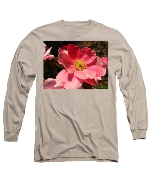 Wild Rose Long Sleeve T-Shirt by Caryl J Bohn