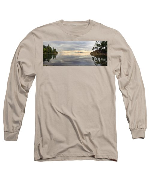 Long Sleeve T-Shirt featuring the photograph Wildcat Cove Along Chuckanut Drive In Washington by JPLDesigns