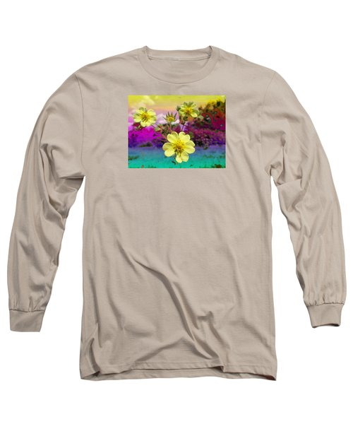 Wildflower Abstract Long Sleeve T-Shirt