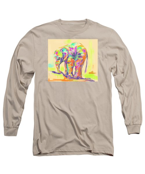 Wildlife Baby Elephant Long Sleeve T-Shirt by Go Van Kampen
