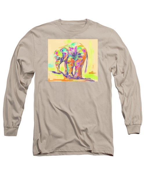 Wildlife Baby Elephant Long Sleeve T-Shirt