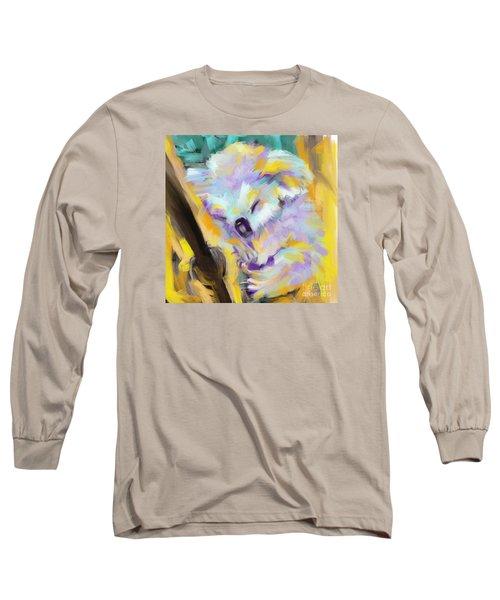Wildlife Cuddle Koala Long Sleeve T-Shirt by Go Van Kampen