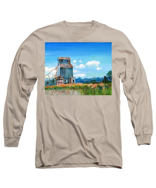 Willow Creek Grain Elevator II Long Sleeve T-Shirt by C Sitton