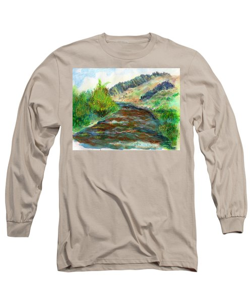 Willow Creek In Spring Long Sleeve T-Shirt