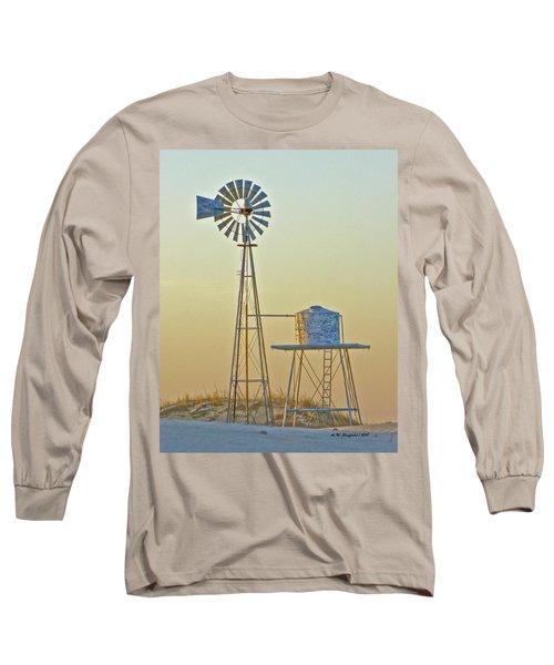 Windmill At Dawn 2011 Long Sleeve T-Shirt