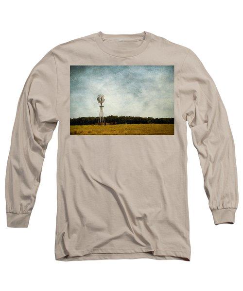 Windmill On The Farm Long Sleeve T-Shirt