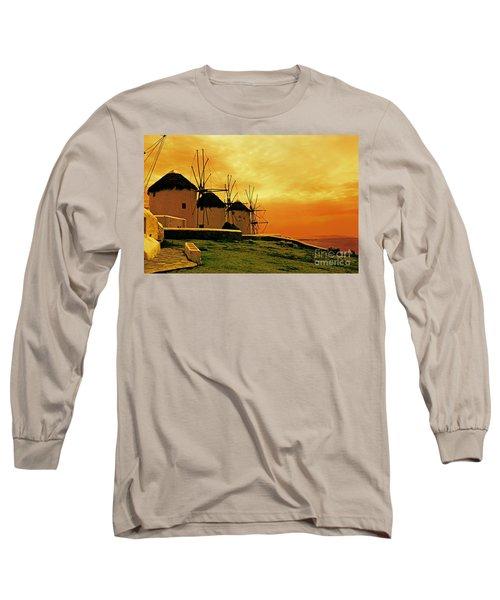 Windmills Of Mykonos Long Sleeve T-Shirt