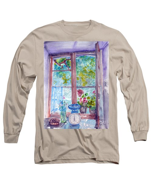 Window Long Sleeve T-Shirt by Jasna Dragun