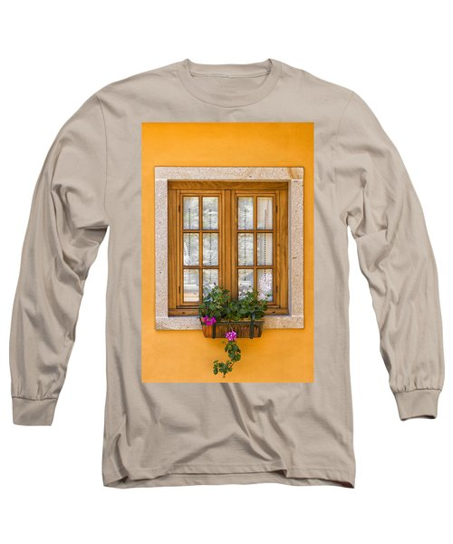 Window With Flowers Long Sleeve T-Shirt