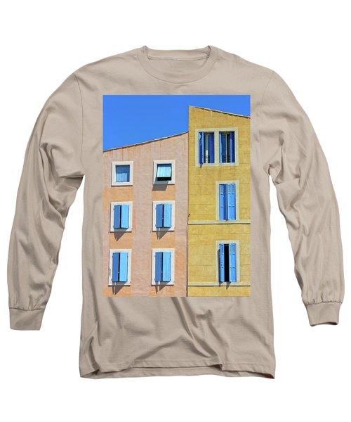 Long Sleeve T-Shirt featuring the photograph Windows Martigues Provence France by Dave Mills