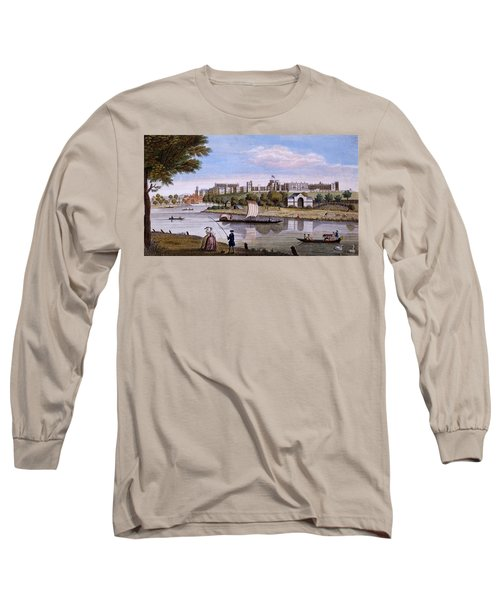 Windsor Castle From Across The Thames Long Sleeve T-Shirt