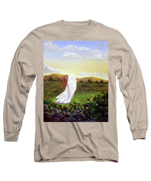Windswept Angel Long Sleeve T-Shirt