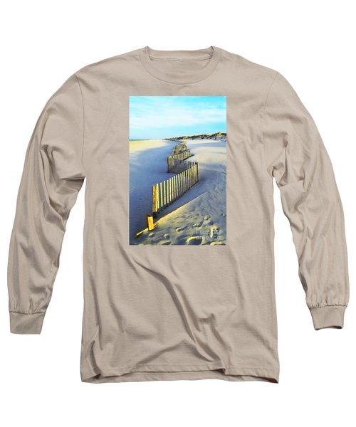 Windswept At Sunset - Jersey Shore Long Sleeve T-Shirt by Joseph J Stevens