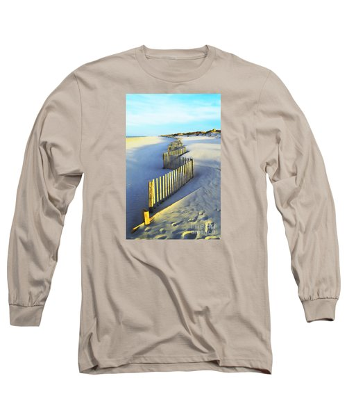 Windswept At Sunset - Jersey Shore Long Sleeve T-Shirt