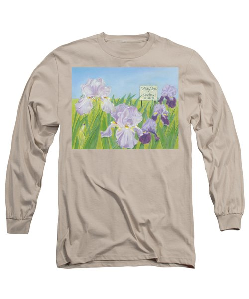 Long Sleeve T-Shirt featuring the painting Windy Brae Gardens by Arlene Crafton