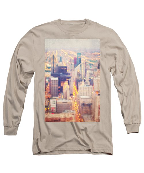 Windy City Lights - Chicago Long Sleeve T-Shirt
