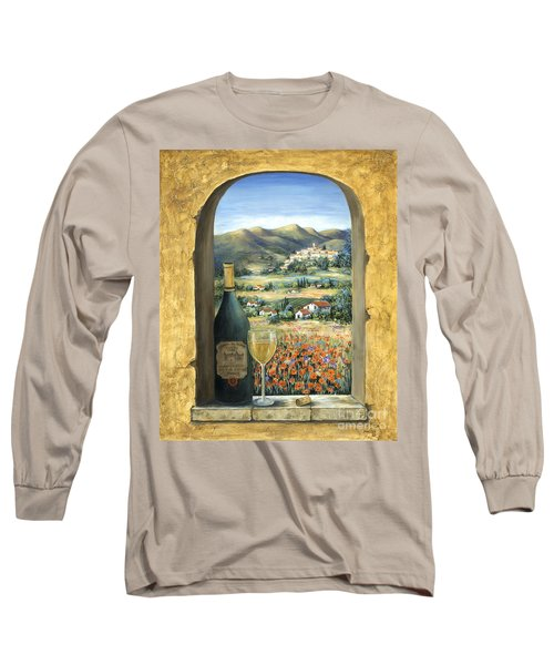 Wine And Poppies Long Sleeve T-Shirt