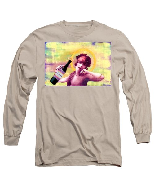 Long Sleeve T-Shirt featuring the painting Wine Of Love by Desiree Paquette