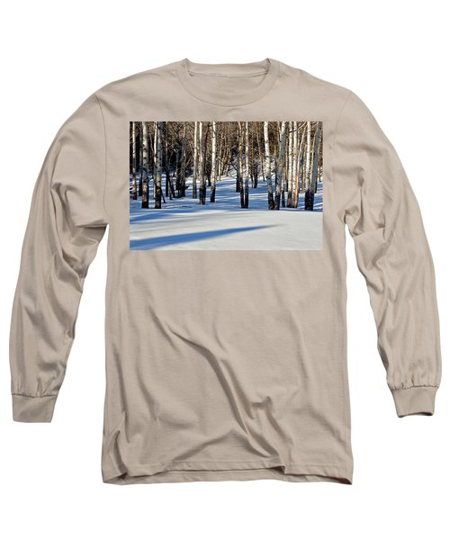Long Sleeve T-Shirt featuring the photograph Winter Aspens by Jack Bell