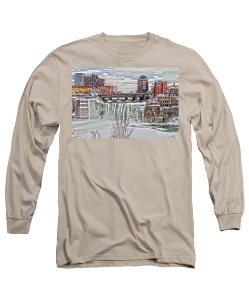 Winter At High Falls Long Sleeve T-Shirt