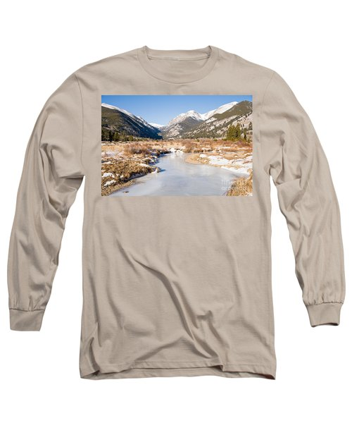 Winter At Horseshoe Park In Rocky Mountain National Park Long Sleeve T-Shirt