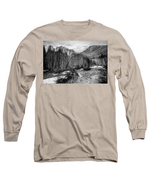 Winter Backroads Englishman River Long Sleeve T-Shirt