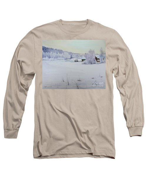 Winter Blanket Long Sleeve T-Shirt by Martin Howard