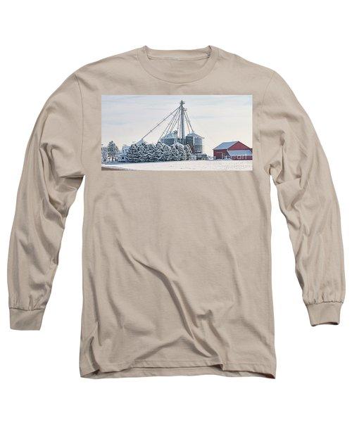 Winter Farm  7365 Long Sleeve T-Shirt by Jack Schultz