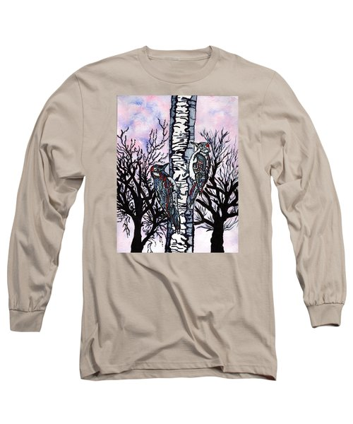 Long Sleeve T-Shirt featuring the painting Winter In The Country by Connie Valasco