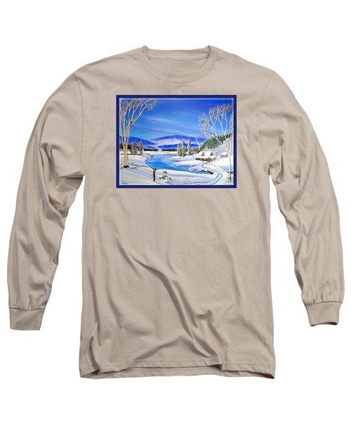Winter Magic At A Mountain Getaway Long Sleeve T-Shirt