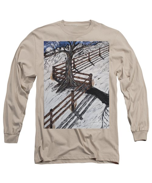 Winter Moon Shadow Long Sleeve T-Shirt