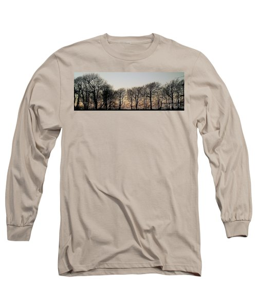 Winter Skyline Long Sleeve T-Shirt by Richard Brookes