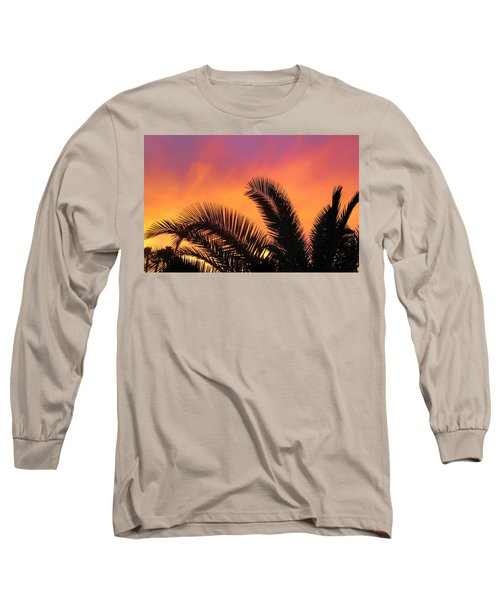 Winter Sunset Long Sleeve T-Shirt by Tammy Espino