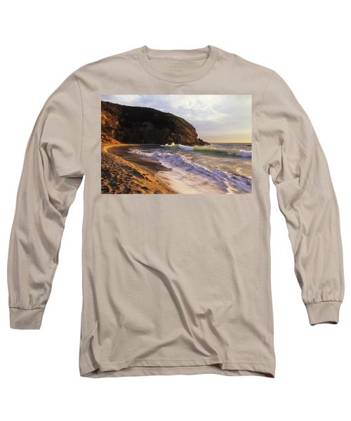 Winter Swells Strands Beach Long Sleeve T-Shirt