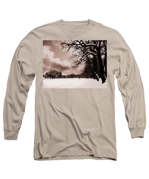Long Sleeve T-Shirt featuring the photograph Winter Tale by Nina Ficur Feenan