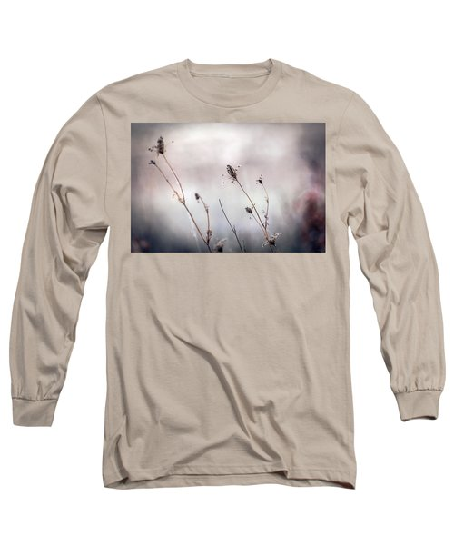 Long Sleeve T-Shirt featuring the photograph Winter Wild Flowers by Sennie Pierson