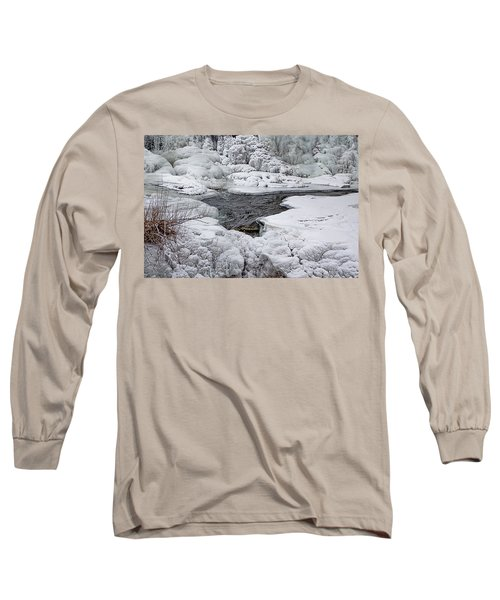 Vermillion Falls Winter Wonderland Long Sleeve T-Shirt by Patti Deters