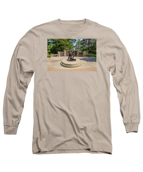 Long Sleeve T-Shirt featuring the photograph Wisconsin State Firefighters Memorial 1 by Susan  McMenamin
