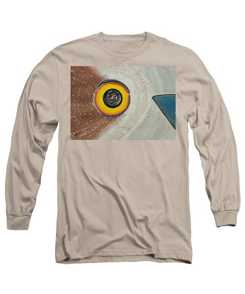 Wise Owl Original Painting Long Sleeve T-Shirt by Sol Luckman