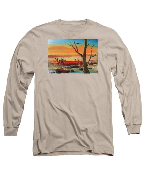 Withered Tree Long Sleeve T-Shirt by Remegio Onia
