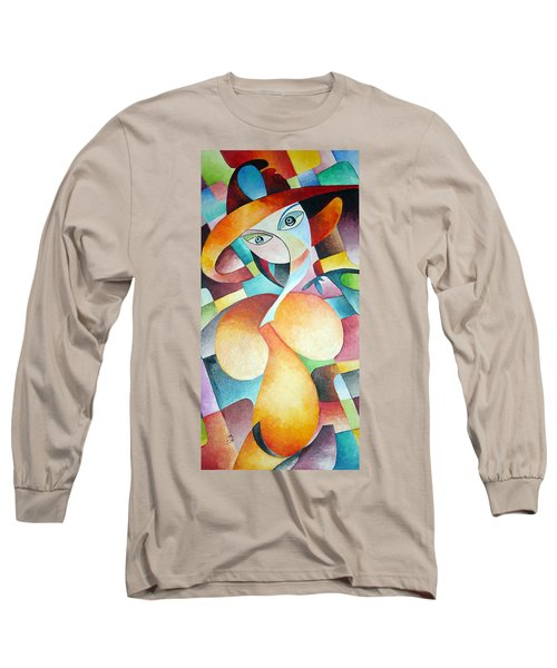 Long Sleeve T-Shirt featuring the painting Woman by Dorothy Maier