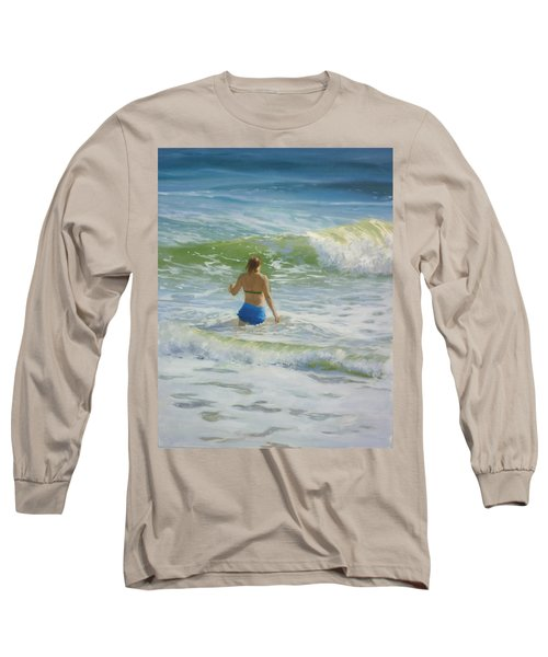 Woman In The Waves Long Sleeve T-Shirt
