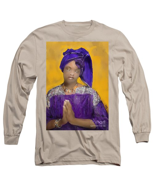 Woman Praying Long Sleeve T-Shirt