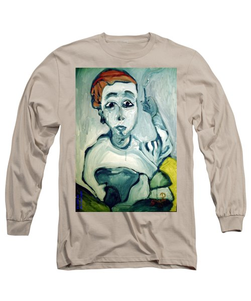 Woman Smoking Long Sleeve T-Shirt