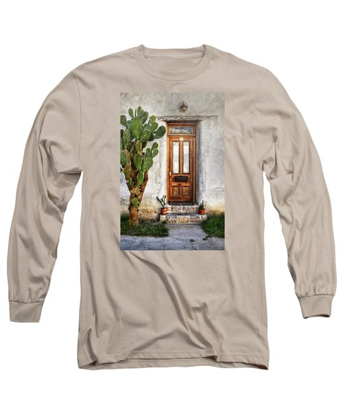 Long Sleeve T-Shirt featuring the photograph Wood Door In Tuscon by Ken Smith