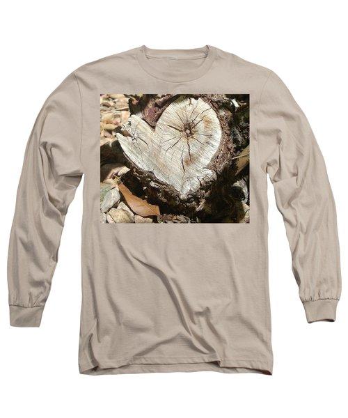 Wood Heart Long Sleeve T-Shirt