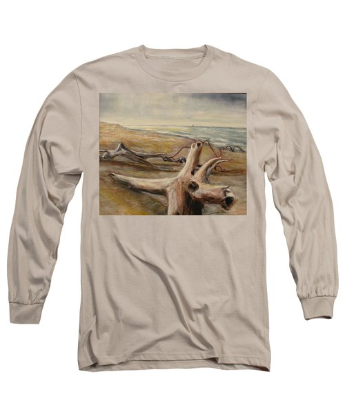 Wood Sand Water And Sky Long Sleeve T-Shirt