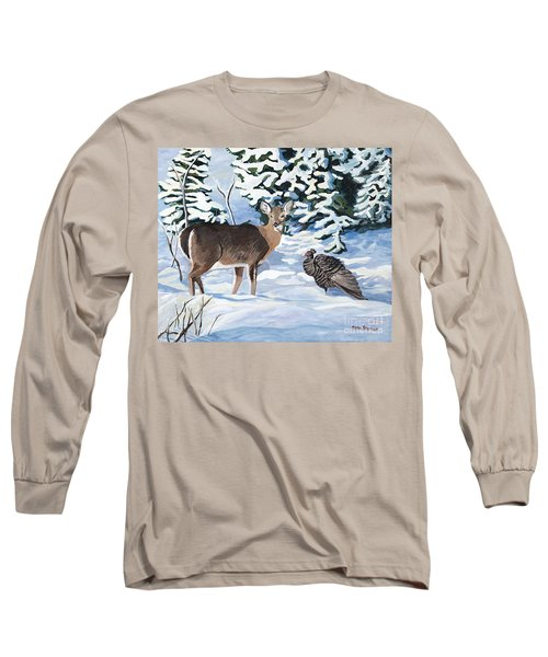 Woodland Creatures Meet Long Sleeve T-Shirt