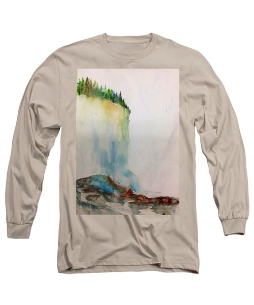 Woodland Trees On A Cliff Edge Long Sleeve T-Shirt